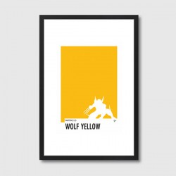 My Superhero 05 Pantone Wolf Yellow Framed Print – yellow Pantone colour art print