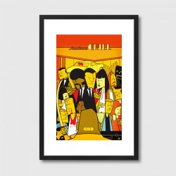Pulp Fiction Framed Print - Red Candy