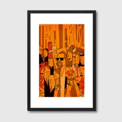 The Big Lebowski Framed Print – Big Lebowski movie art print