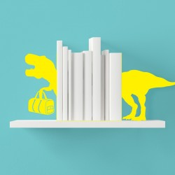 T-Rex Bookends - yellow dinosaur book ends - Mustard
