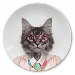 Wild Dining Plate (Cat) - Red Candy