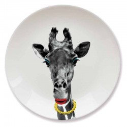 Wild Dining Plate (Giraffe) - Red Candy