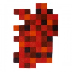 Do Lo Rez 1 Rug – red pixel rug