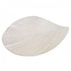 Quill Rug – large white leaf rug