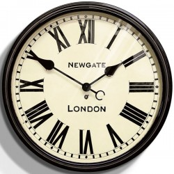 Newgate Battersby Clock - black classic wall clock