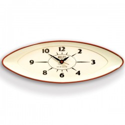 Newgate Bullitt Wall Clock - red bold statement timekeeper