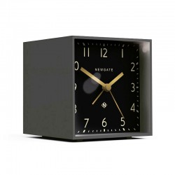 Newgate Cubic Gravity Grey Alarm Clock (Black) - Red Candy