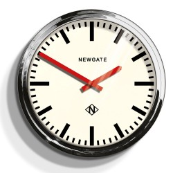 Newgate Metropolitan - Chrome - large stainless steel wall clock