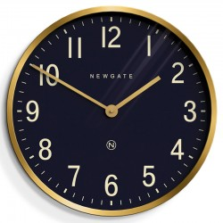 Newgate Mr Edwards Clock - Radial Brass - designer wall clock
