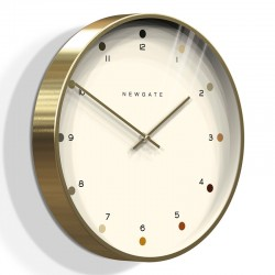 Newgate Oslo Wall Clock (Dot Dial) - Red Candy