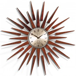 Newgate Pluto Clock - retro starburst wall clock