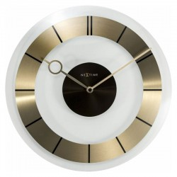 Nextime Retro Clock – designer gold glass clock