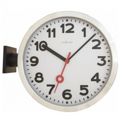 Nextime Station Double-Sided Clock - Red Candy