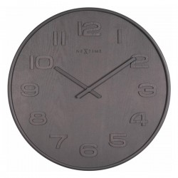 Nextime Wood Wood Medium Clock - Grey