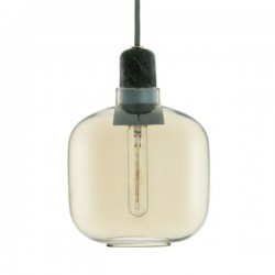 Amp Lamp Small - Gold Green - glass jar hanging lamp - Normann Copenhagen