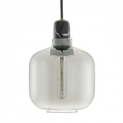 Amp Lamp Small - Smoke Black - glass pendant light - Normann Copenhagen