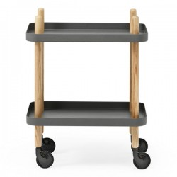Normann Copenhagen Block Table - Dark Grey - modern trolley style table