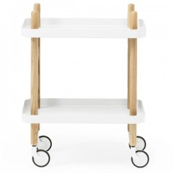 Normann Copenhagen Block Table - White - trolley side table