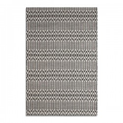 Serengeti Rug - black tribal print rug