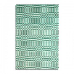 Serengeti Rug - green tribal print rug