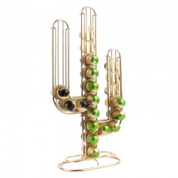 Cactus Coffee Capsule Holder (Gold) - Red Candy