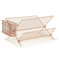 Copper Wire Dish Rack - metal dish drainer