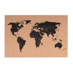 Corkboard World Map - Red Candy
