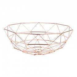 Diamond Cut Basket - Copper - geometric copper wire centrepiece