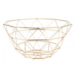 Diamond Cut Tall Basket (Gold) - Red Candy