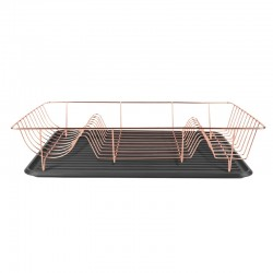 Linea Dish Rack - Copper - designer wire dish drainer and tray