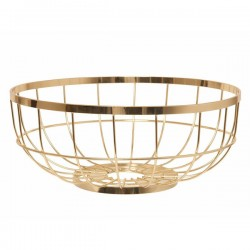 Open Grid Fruit Basket - gold designer fruit bowl