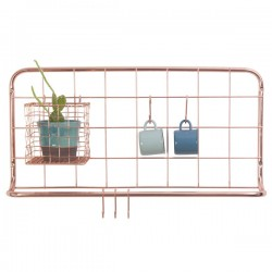 Open Grid Kitchen Rack - Copper - wall hanging kitchen storage