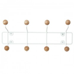 Saturnus Coat Rack - natural wood ball hat rack