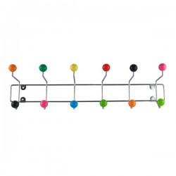 Saturnus Large Coat Rack - Multi Colour - colourful coat hooks