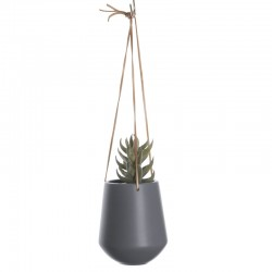 Skittle Large Hanging Plant Pot (Dark Grey) - Red Candy