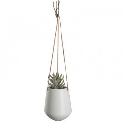 Skittle Large Hanging Plant Pot (White) - Red Candy