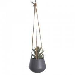 Skittle Small Hanging Plant Pot (Dark Grey) - Red Candy