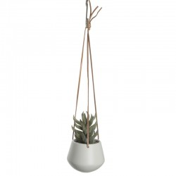 Skittle Small Hanging Plant Pot (White) - Red Candy