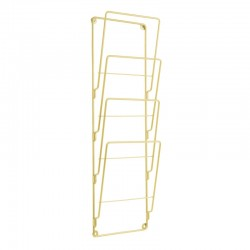 Wire Wall Magazine Rack - Gold - wall storage rack - Present Time