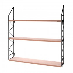 Zig Zag Wall Rack (Black) - Red Candy