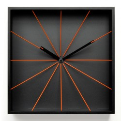Perspective Wall Clock - square black box wall clock