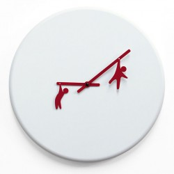 Time2play Wall Clock - fun white designer timepiece
