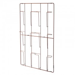 Frame-6 Magazine Rack (Copper) - Red Candy