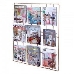 Frame-9 Magazine Rack - Copper - wall mounted magazine display