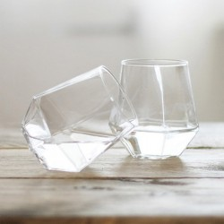 Radiant Glasses - Set of 2 - geometric glass tumblers - PUIK Art