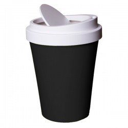 Coffee Bin - Black - Quirky Takeaway Cup Waste Can - Qualy