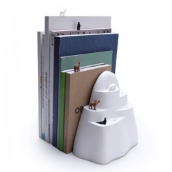 Iceberg Bookend and Bookmarks - Quirky Animal Book End - Qualy