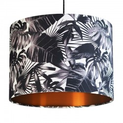 Black and White Cheese Plant Lampshade (Copper) - Red Candy