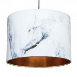 Carrara Marble Effect Lampshade (Copper) - Red Candy