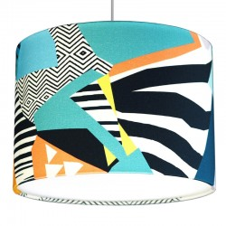 Kitty McCall Canary Drum Lampshade - Red Candy